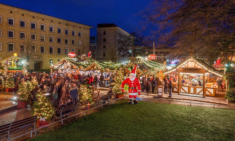 Bielefelder Weihnachtsmarkt.Das Haus Vom Nikolaus Weihnachtsmarkt Bielefeld